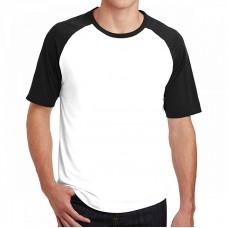 Custom men white and black t-shirt