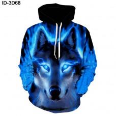 2018 Unisex 3D Print Novelty Hip-Hop Funny Hoodies Pullover Casual Sweatshirt