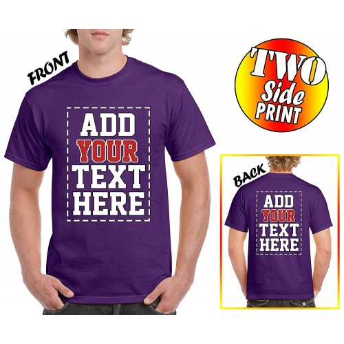 a71471011f4 Custom 2 sided T-Shirts - DESIGN YOUR OWN SHIRT - FRONT and BACK Printing  on Shirts