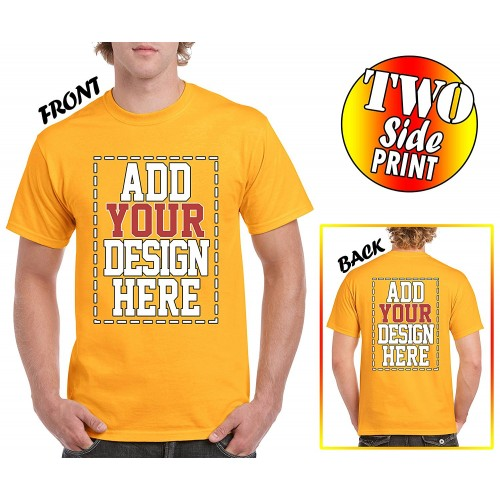 Custom 2 sided t shirts design your own shirt front for Custom t shirts add photo