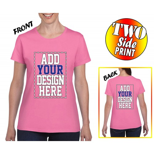 Custom 2 sided t shirts for women design your own shirt for Design your own custom t shirts