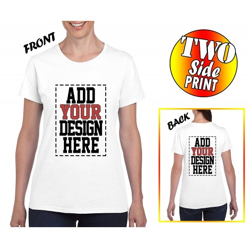 Custom 2 sided t shirts for women design your own shirt for Custom shirts design your own
