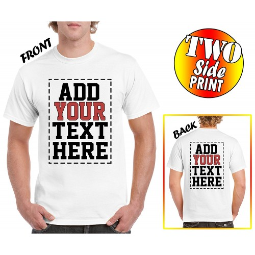 Custom 2 sided t shirts design your own shirt front for Custom t shirts design your own