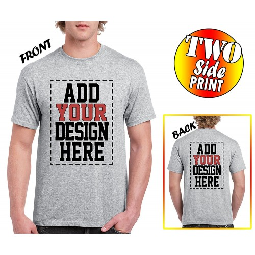 custom 2 sided t shirts design your own shirt front and back