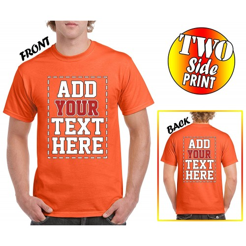 d56ed38de Custom 2 sided T-Shirts - DESIGN YOUR OWN SHIRT - FRONT and BACK Printing  on Shirts
