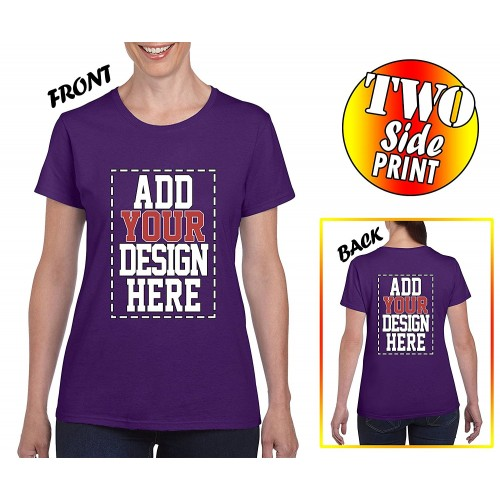 Custom 2 Sided T Shirts For Women Design Your Own Shirt