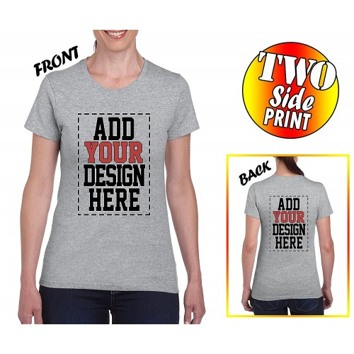 Custom 2 sided t shirts for women design your own shirt for Design your own athletic shirt